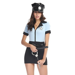 Wholesale United States Uniforms - Real Shot Female Models United States Siamese Police Equipment Cosplay Police Military instructor Costume Christmas Uniform Polyeter