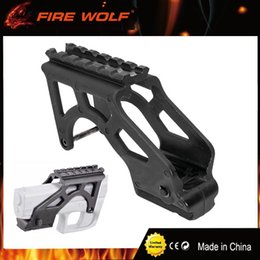 Wholesale Tactical Mount For Pistol - FIRE WOLF Tactical Laser Flashlight MAKO PRO GIS Rail Mount With Picatinny Rail For Glock Pistol 17 19 20 21 22 23 34 Gen 3 & 4