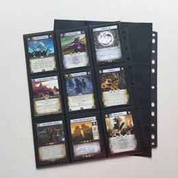 Wholesale Pocket Poker - 30 Pages Lot Trading Card Protectors Black (30 Count) Double Sided 9 Pocket Pages (Total 18 Pocket) For Board Games MTG Poke