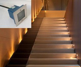Wholesale Embedded Lamps - Led Footlights IP65 Waterproof Outdoor Wall Light Aluminum wall lamp for Embedded stairs step foyer wall corner lights Indoor