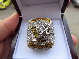 Wholesale Photos Cup - Myself Photo ! 2017 PITTSBURGH PENGUINS STANLEY CUP Hockey CHAMPIONSHIP RING With Wooden box solid Men Fan Gift Wholesale Drop Shipping