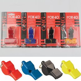 Wholesale Whistle Gear - EDC GEAR Fox40 Whistle Plastic FOX 40 Soccer Football Basketball Hockey Baseball Sports Classic Referee Whistle Survival Outdoor B240S