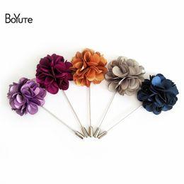 Wholesale Black Jewelry Pins - BoYuTe 5Pcs High Quality Flower Lapel Pin Fashion Jewelry Copper Men's Suit Wedding Brooch Jewelry & Accessories