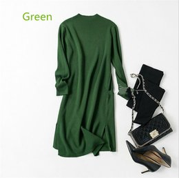 Wholesale Computers Seniors - Hot sale autumn and winter new high-quality fashion knitted wool dress Europe and the United States senior woman sweater dress l