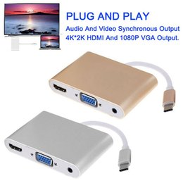 Wholesale Micro Usb Hdmi Adaptor - 2017 Mini DP to HDMI DVI VGA Adapter TV Female Cable 3 in 1 for MacBook Air Pro PC Projector Switch Adaptor