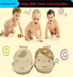 Wholesale Tooth Children - Baby Milk Tooth Collection Memorial child Tooth Box Cute and Beautiful Wooden Tooth Box KUA M766