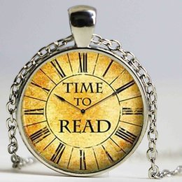 Wholesale Read Love - Brand Classic coffee color Keep Calm and Read On Charms necklace pendant Glass Dome I Love Reading Vintage Bangle Jewelry