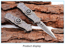 Wholesale Outdoor Spinners - Fidget Spinner 2 in 1 Folding Blade Knives Creative Toys Aluminum Handle Pocket Knife Self-defense Outdoor-tools for Gifts Camping Knives