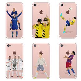 Wholesale Soccer Phone Cases - Football Star Player TPU Phone Cases for iphone 7 7plus 6S Case with Soccer Prints Customize Acceptable