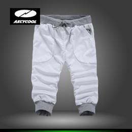 Wholesale Cotton Trousers Shorts For Men - Wholesale-Hot Sale Cotton Men Shorts Mens Beach Trousers Short Casual Solid Trousers Summer Casual Shorts for Men