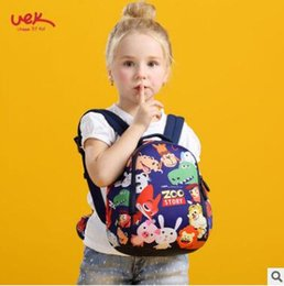 Wholesale Bag Zoo Children - School Bag Cartoon Zoo Story Children Waterproof Backpack Kindergarten Girls Boys Schoolbag Neoprene Kids Animal Pattern School Bag 1-3 4-6Y