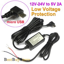Wholesale 12v 24v Voltage Converter - Wholesale- New Car DC Converter Module Input 12V 24V Ouput 5V 2A with micro USB Cable Low Voltage Protection Cable Length 3.5m 11.4ft #D-3