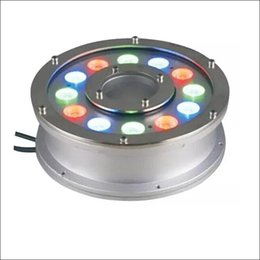 Wholesale Pc Chips - Landscape lamp pond swimming pool fountain RGB LED underwater light IP68 stainless housing epistar LED chip 5 pcs per lot