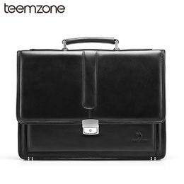 Wholesale Lawyers Briefcase - Wholesale- Free Shipping Hot Men's Genuine Leather Vintage Frmal Business Lawyer Briefcase Messenger Shoulder Attache Portfolio Tote T8880
