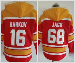 Wholesale Hooded Sweatshirt Xxl - Florida Panthers #16 Aleksander Barkov #68 Jaromir Jagr Red Hoodie Hooded Sweatshirt Hockey Jackets New Style All Teams Outdoor Uniform