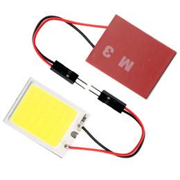 Wholesale 12v led cob panel lights - Super Bright!! 200PCSs Lot 24 SMD COB Chip 24LED 12V DC Panel Lamps With T10 + Festoon Adapters White LED Free Shipping