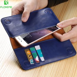 Discount purse cases for iphone 5s - FLOVEME Luxury Retro Leather Wallet Phone Bags Case For Samsung S8 S7 S6 S5 for iPhone 7 6 6S Plus SE 5S 5 Soft Brand Cover Purse