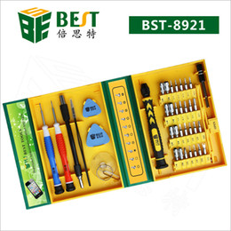 Wholesale Apple Tool Kits - Free Shipping BST-8921 Screwdriver BEST 38 in 1 Screwdriver set screwdriver kit phone Opening Repair tool for mobile phone, PC, Laptop