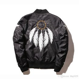 Wholesale Free Standing Letters - Fall-Flight Pilot Jacket Coat Bomber Ma1 Men Bomber Jackets Air Force Embroidery Baseball Military Free Shipping