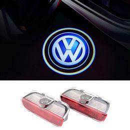 Wholesale Vw Passat B6 B7 Cc - For VW Golf 5 6 7 Tiguan Touareg Jetta MK5 MK6 CC Passat B6 B7 Sharan Scirocco EOS Car LED Door Warning Light Logo Projector