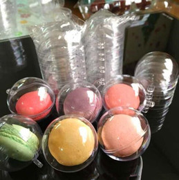 Wholesale Christmas Cake Boxes Wholesale - 5cm Diameter Macaron Ball Plastic Hollow Ball Decorative Transparent Clear Macaron Box Cake Ball Box With Hanging Hole CCA6925 1000pcs