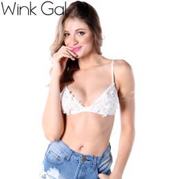 Wholesale Sexy Junior Bras - Wink Gal Junior Floral Lace Bralette Sheer Bustier Crop Top Triangle Unpadded Bra 1637