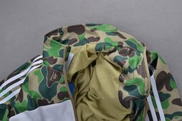 Wholesale Hip Ad - AD brand Camouflage reflective Men Jacket New kanye west Jacket Hip Hop Waterproof Windbreaker Men Coat