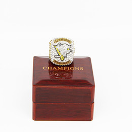 Wholesale Good Cup - Drop Shipping 2017 official Pittsburgh Penguin Stanley Cup Championship Rings For MVP CROSBY,good gift for Chrismas