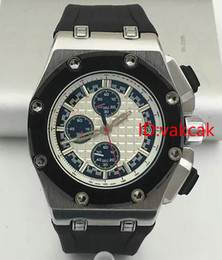 Wholesale Mens Offshore Watch - Top Luxury Brand Rubber Band Royal Oak Offshore Sports Mens Watch Chronograph Stopwatch Limited Edition Men Watches Wristwatch