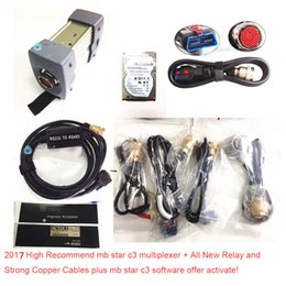 Wholesale audi c3 - Top quality mb star C3 !! Professional diagnostic tool MB STAR C3 multiplexer with mb C3 Software hdd full set cables free ship