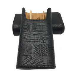 Wholesale Product Hold - bLACK COLOR New product Gadgets Leather Cedar Wood Lined can hold Cigar 3 Tube Portable Travel Humidor