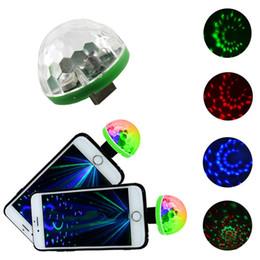 Led portátil rgb online-Nuevo USB LED Stage Light Música sonido activado DC 5V Portable RGB LED Crystal Color luces para el entretenimiento en el hogar Iluminación del partido