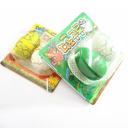 Wholesale Toy Card Packaging - Wholesale-The new children's toys small packaging 2 Blister card installed water-swellable dinosaur eggs hatching eggs Animals