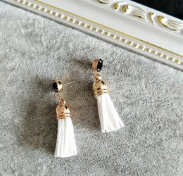 Wholesale Mr Mix - 8 Mix Colors New Vintage Gold Plated Boho Jewelry Earrings Long Tassel Dangle Earrings Women Drop Earrings MR