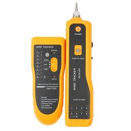 Probador de red cat6 rj45 online-Freeshipping Alta calidad JW-360 RJ45 Cat5 Cat6 Rastreador de cables de teléfono Tóner Trazador Ethernet LAN Probador de cable de red Detector Detector de línea