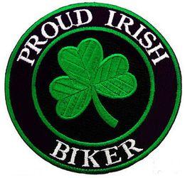 Las puntadas al por mayor del bordado Orgulloso IRLANDÉS Biker Patch Use Iron Sew On Jacket Back y Diferencia T-mierda o bolsa de sombrero desde fabricantes