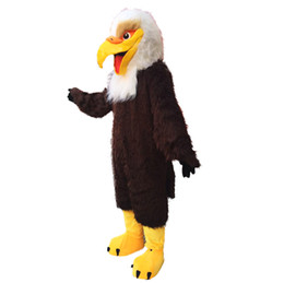 2018 NOVO Brown Eagle Mascot Costume Cartoon Foto Real de