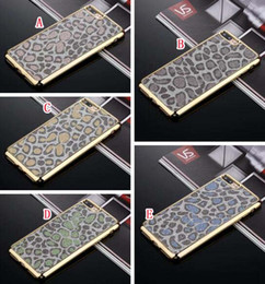 Wholesale Iphone Bling Leopard - Bling Electroplating Leopard Soft TPU Back Case For IPhone 7 Plus I7 6 6S I6 Luxury Glitter Plating Chrome Gold Cell Phone Skin Cover 100pcs