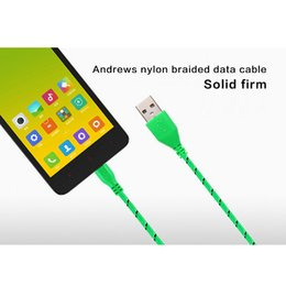 Wholesale Galaxy Goophone - New Woven Micro USB Cable Iphone Charging Cable 1M USB2.0 Data sync Charge Cable for Samsung galaxy S5 ztc goophone Android Phone