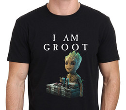Wholesale Galaxy S I - 2017 Hot Sale New T Shirt Men'S Short I Am Groot, Baby Groot Gurdian Of The Galaxy 2 O-Neck Tall T Shirt