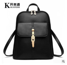 Wholesale Sky Blue Fashion Bag - Classic 2017 Fashion Women's backpack bag school bag handbags shoulder purse top quality free shipping
