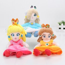 "Wholesale wholesale mario bros toys - 10pcs Super Mario Bros Princess Peach Daisy Rosalina Plush Doll Stuffed Toy girls doll 8""20CM"