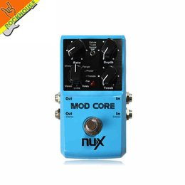 Wholesale Chorus Flanger Pedal - Wholesale- NUX MOD CORE Multi Modulation guitar Effects pedal Chorus Flanger Phaser Rotary Pan U-vibe and Vibrato true bypass free shipping