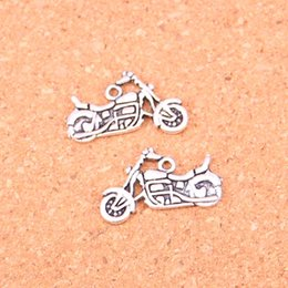 Wholesale Scooter Jewelry - Wholesale 65pcs Fashion Antique silver motorcycle scooter autocycle charms metal pendants for diy jewelry findings 14*25mm
