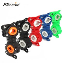 Wholesale Bicycle Accessory Mounts - AloneFire 1pc 360 Degree Rotation Cycling Bike Flashlight Holder Bicycle Light Torch Mount LED Head Front Light Holder Clip Bike Accessories