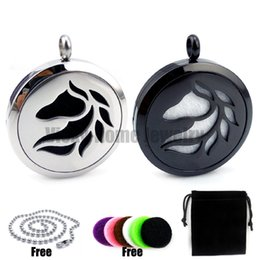 Wholesale China Horse Pendant - New Arrivals Horse (30mm) Aromatherapy   Stainless Steel Essential Oils Diffuser Locket Necklace
