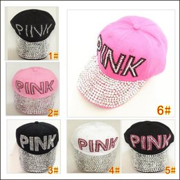 Wholesale pink pointer - Fashion ladies drill pointer cowboy diamond CAPS male and female sun hat multi-color PINK point drill cowboy baseball cap brand hat MO62