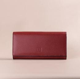 Wholesale Womens Vintage Purses - Female Original Genuine Cow Leather Wallets Womens Wallets Luxury Brand Designer Women's Purse Cellphone Card Holder Tarjeter