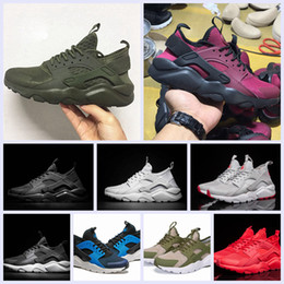 Wholesale Light Up Trainers - 2017 New Huarache IV Ultra Running shoes Huraches trainers for men & women Multicolor shoes Triple Huaraches sneakers free shipping