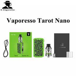 Wholesale Ecig Boxes - Authentic Vaporesso Tarot Nano 80W Starter Kit with 2ml Tank Capacity Cigarette Ecig Vape Box Black Red Green Color